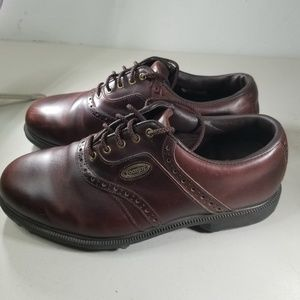 Footjoy Mens Brown Leather Golf Shoes Size 8.5 W